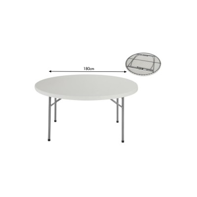 Table Ronde 180 cm ( 10 pers)