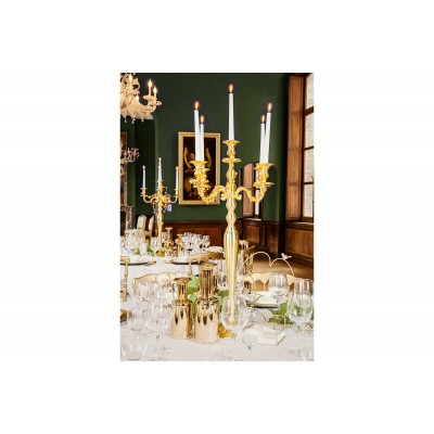 Chandelier 5 branches OR MAT 78 cm