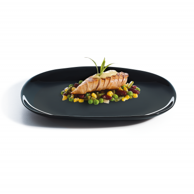 Assiette Evo Black Rectangulaire 23x28cm