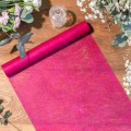 Chemin de table Intissé Luxe Fuschia 30CMX5M
