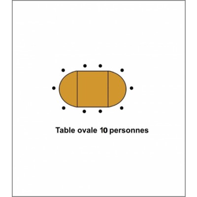 Table Ovale 10 Places